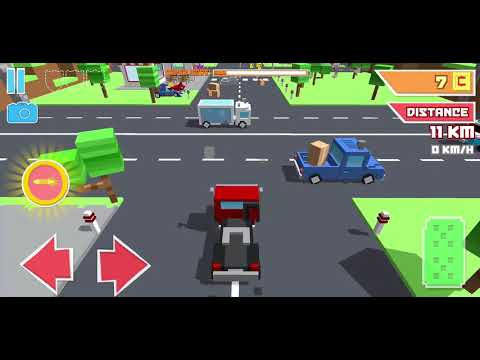 Crossy Brakes : Blocky Toon Racer | Highway Traffic Racer - Android GamePlay FullHD #4