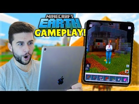 Minecraft Earth FIRST Ever GAMEPLAY! - New Minecraft Mobile Game
