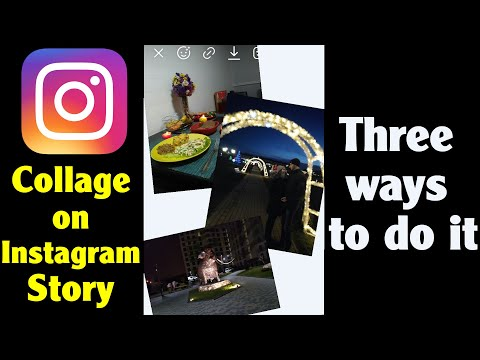 How to make a Collage on Instagram Story (3 ways, Android, 2020)