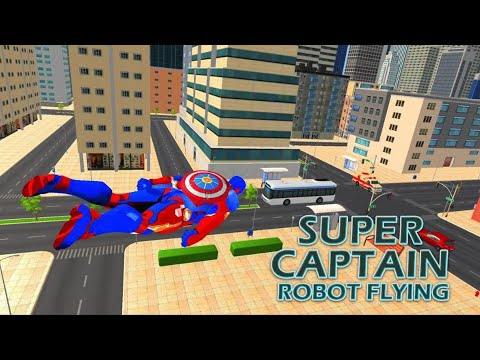 Superhero Captain Robot Games:Black Hole Rope Hero | Android Gameplay