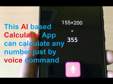 This AI based Calculator App can calculate any number just by voice command