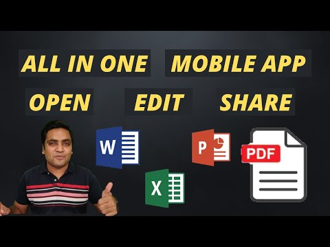 All in One App for Word - Excel - PowerPoint - PDF Files on Mobile in 2021 | Image Scanner