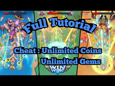 CHEAT WINWING : SPACE SHOOTER WITH GAMEGUARDIAN |ROOT|NOROOT|FULL TUTORIAL|