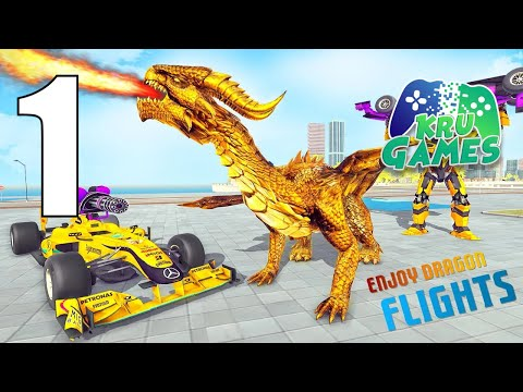 Dragon Robot Car Game – Robot transforming games Gameplay Walkthrough #1 (Android, IOS)