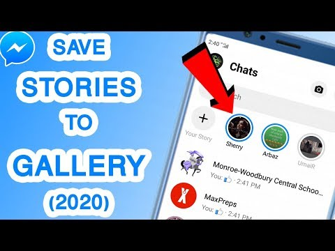 UPDATED* How To Save Someone's Facebook Messenger Status/Stories in Gallery