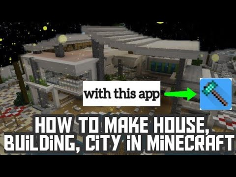 How to make house, buildings, city in minecraft with this app 🔘 TS TUBE