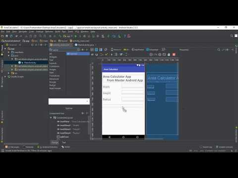 Area Calculator Android Project - Learn Android App Development by Examples- Master Android