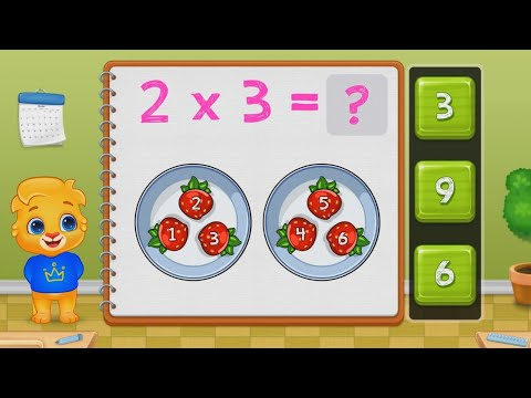 MATH MULTIPLICATION TABLES FOR KINDERGARTEN AND FIRST GRADE ANDROID MATH GAME - EP 1