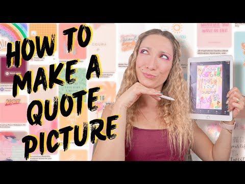 HOW TO MAKE A QUOTE PICTURE   OVER APP EDITING TUTORIAL
