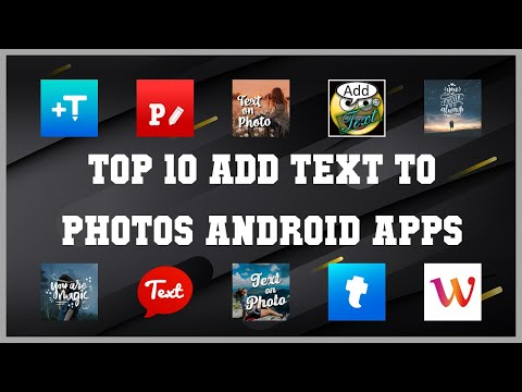 Top 10 Add Text to Photos Android App | Review