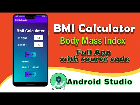 BMI Calculator (Body Mass Index) full Android Application with full source code (Hindi & Urdu)
