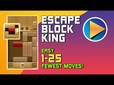 Escape Block King Easy Levels 1 to 25 Walkthrough [100% Perfect!]