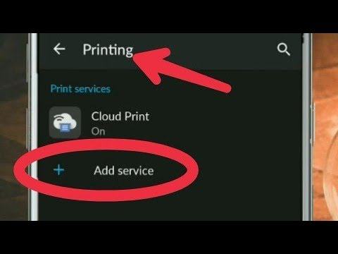 How To Add App Printing Services in Android Phone