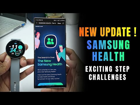 New Update for Samsung Health App with Exciting Step challenges ! & many visual changes