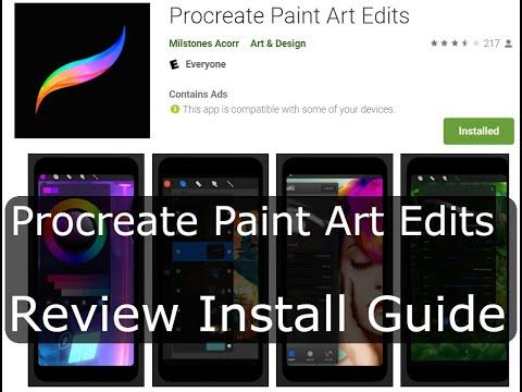 Procreate Android   Procreate Paint Art Edits   Scam app?   Install & guide