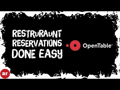 OpenTable Official App Review and Tutorial