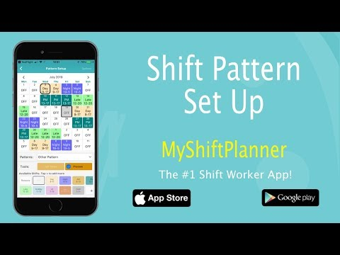 New Shift Pattern Set Up - V.5.2 My Shift Planner