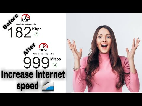 Increase internet speed || How to make your Internet speed faster 1 simple setting New update 2021