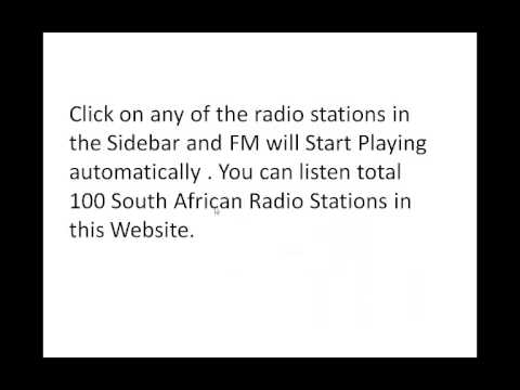 Listen to South Africa Radio Stations Online