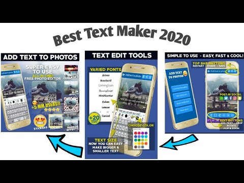 Text on Photos ||Add text to Photo Android App 2020