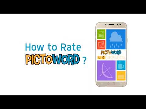 Pictoword Android Tutorial  - How to Rate Us?