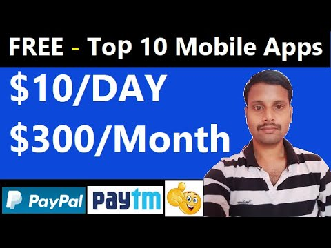 Top 10 Mobile Apps to Make Money in 2021   Earn Money From Your Mobile   Work From Home Online Jobs.