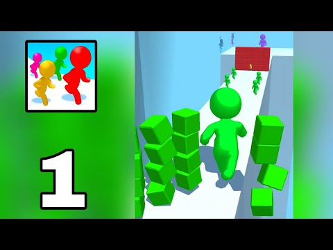 Color Run Stickman 3D Gameplay Walkthrough    Level 1-25    Part 1    {Android} By Zip Zap