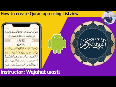 How to Create Quran app in android studio using Listview