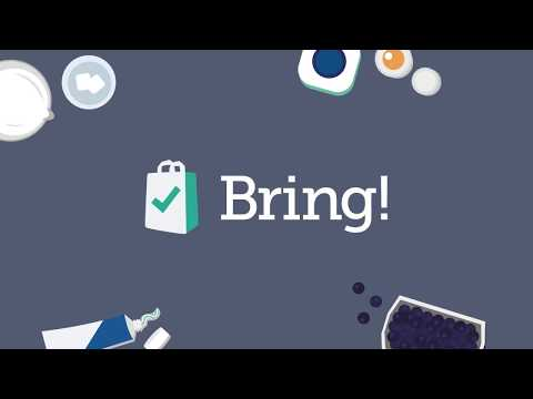 video review of Bring! Grocery Shopping List