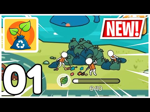Clean the Planet - Idle EcoClicker - Gameplay Walkthrough Part 01 (iOS, Android)