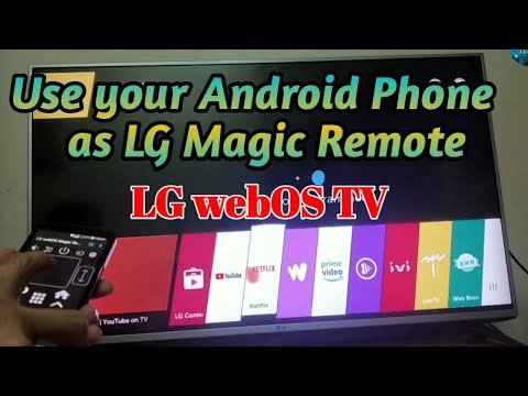 Use your Android Phone as Magic Remote on your LG webOS TV