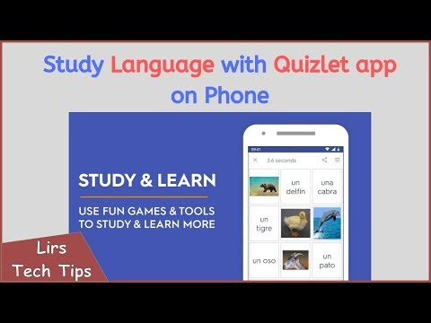 Study Language with Quizlet app on Phone (Android/IPhone)