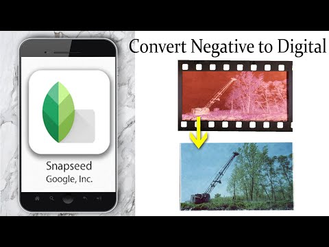How To Convert a 35mm Negative to digital on Android with Snapseed App