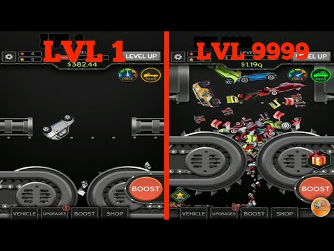 Idle Car Crusher - 9999 LVL - Gameplay (Android)