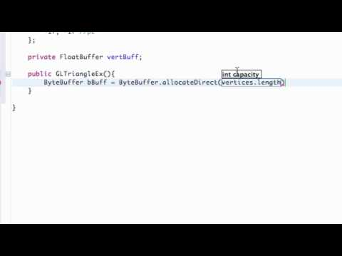 Android Application Development Tutorial - 172 - Byte and Float Buffers