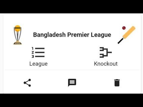 How to Create Cricket Tournament from Winner app