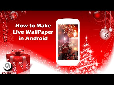 How to make Live Wallpaper Android   Christmas Tree Live wallpaper   Live Wallpaper Android from gif