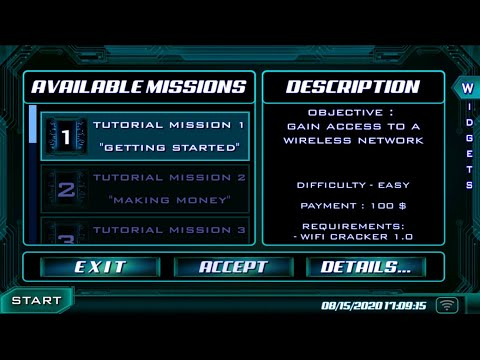 How to play The Lonely Hacker - Mission 1 Gameplay Walktrough (UPDATED - version 9.7)