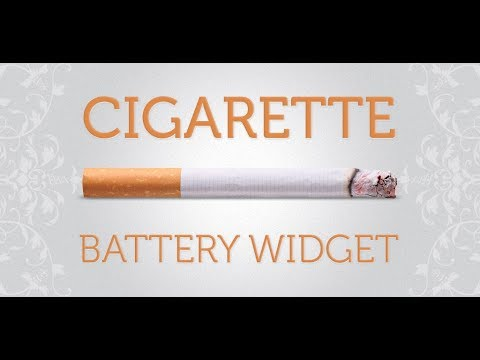 How to add Cigarette Battery Widget to Android home screen?