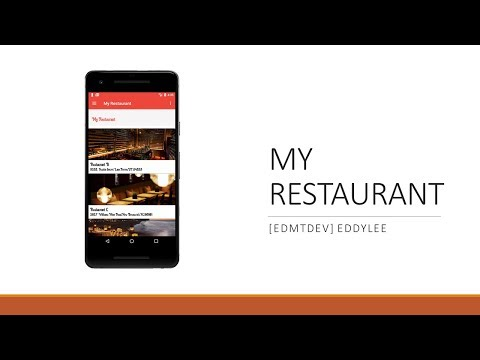 Android Development Tutorial - My Restaurant Part 1 Project Overview