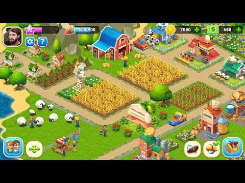 Farm City : Farming & City Building Android Gameplay