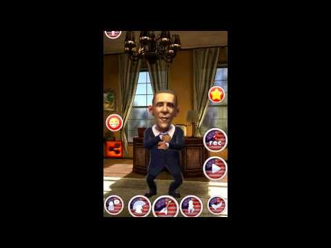 Talking Obama app. New free funny game for Android.