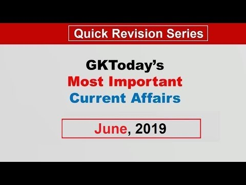 [Monthly Compilation] June 2019 Current Affairs in English