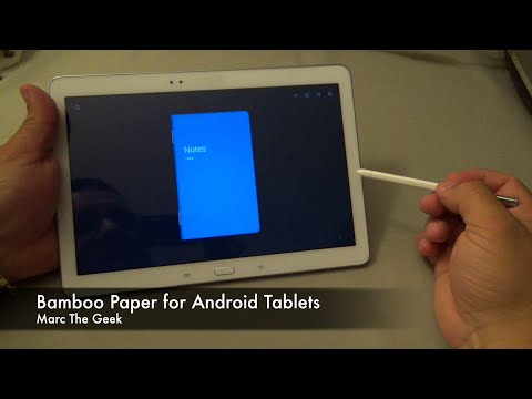 Bamboo Paper for Android Tablets - Great Notebook App