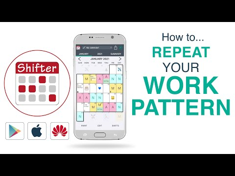 SHIFTER CALENDAR APP - How to repeat your work pattern 📅