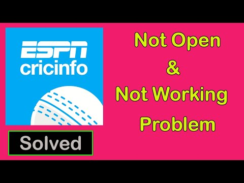 How To Fix ESPNCricinfo App Not Opening Problem || ESPNCricinfo App Not Working Problem in Android