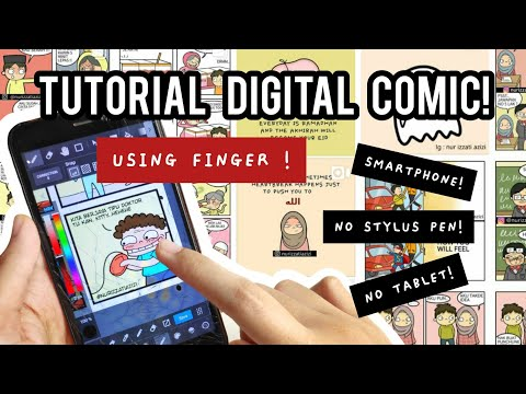 HOW I DRAW COMIC USING SMARTPHONE and FINGER! | Part 1 | Medibang Paint