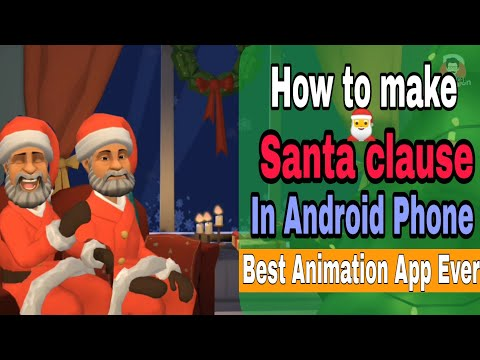 Make Animated Santa Claus in Android Smartphone and celebrate this christmas | #Plotagon Mobile app.