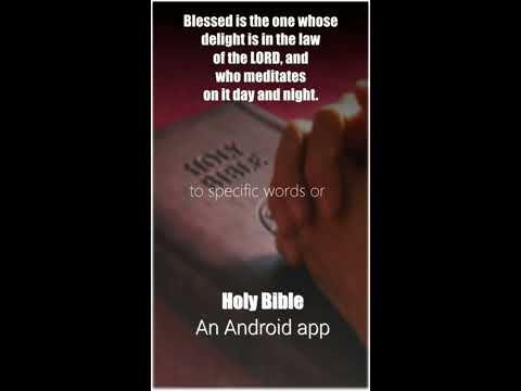 Holy Bible An Android App