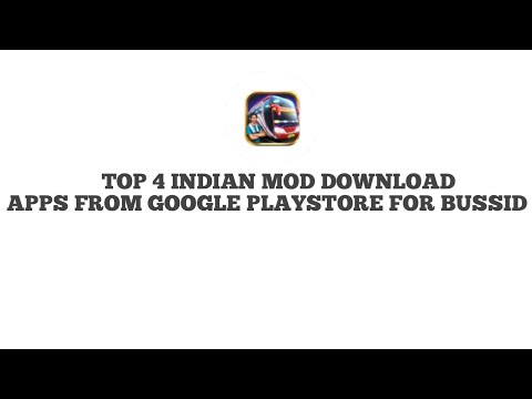 How To Download INDIAN Mods From PlayStore TOP 4 Bussid Mod APPS For Android Bus Simulator Indonesia